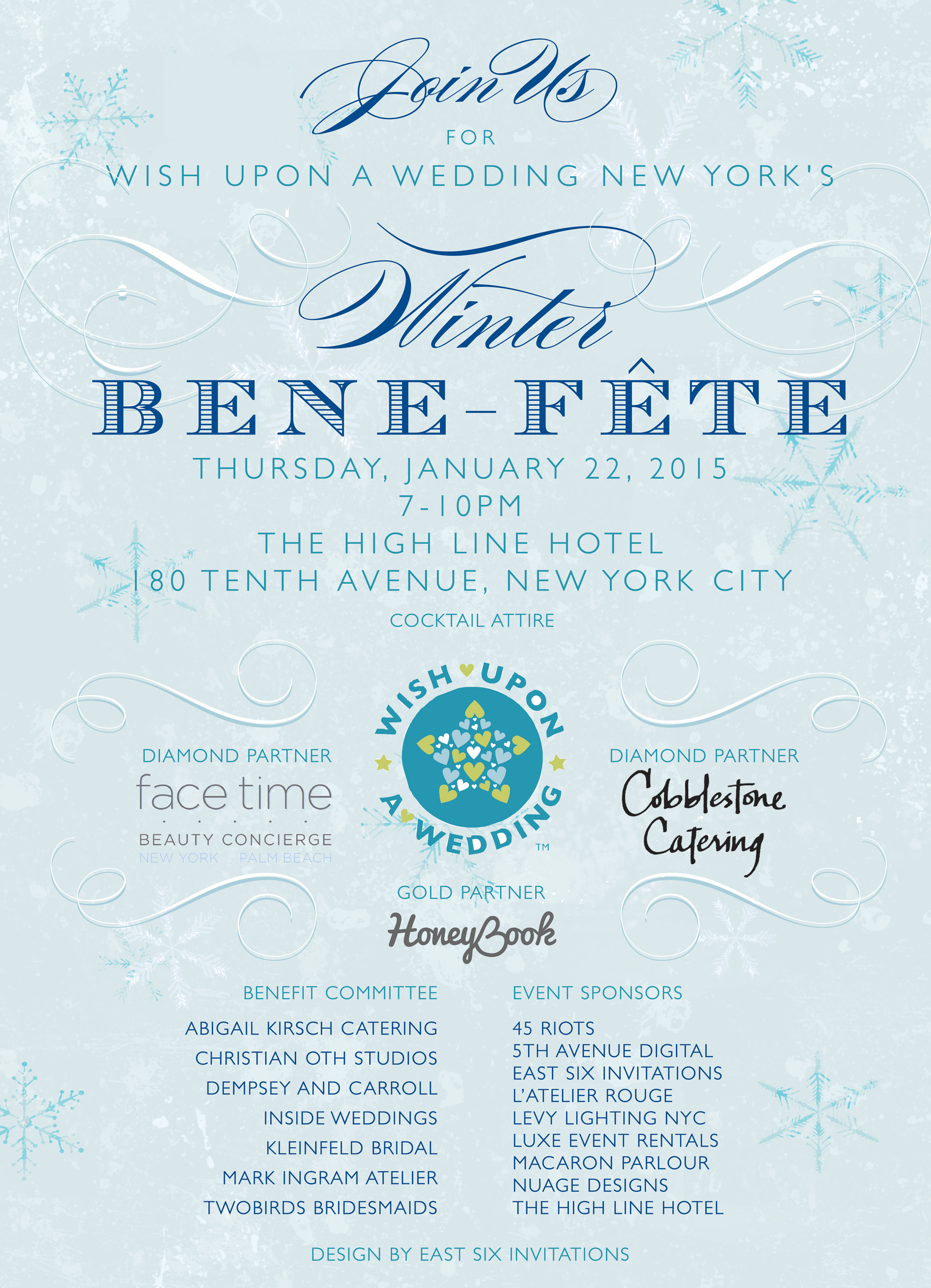 Wish Upon a Wedding Winter Bene-Fete - January 22, 2015 at The High Line Hotel