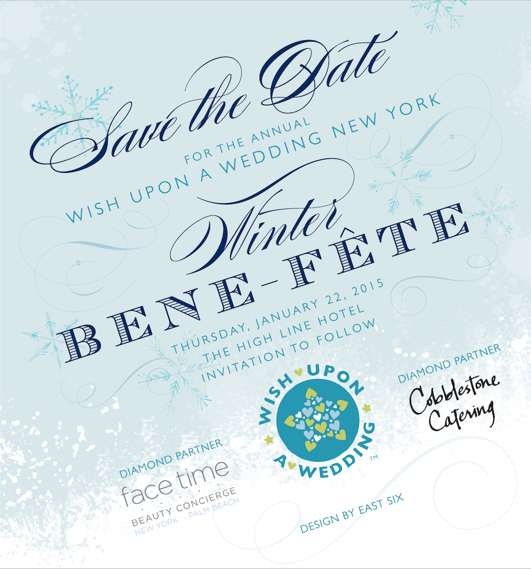 Save the Date for Wish Upon a Wedding New York Winter Bene-Fete
