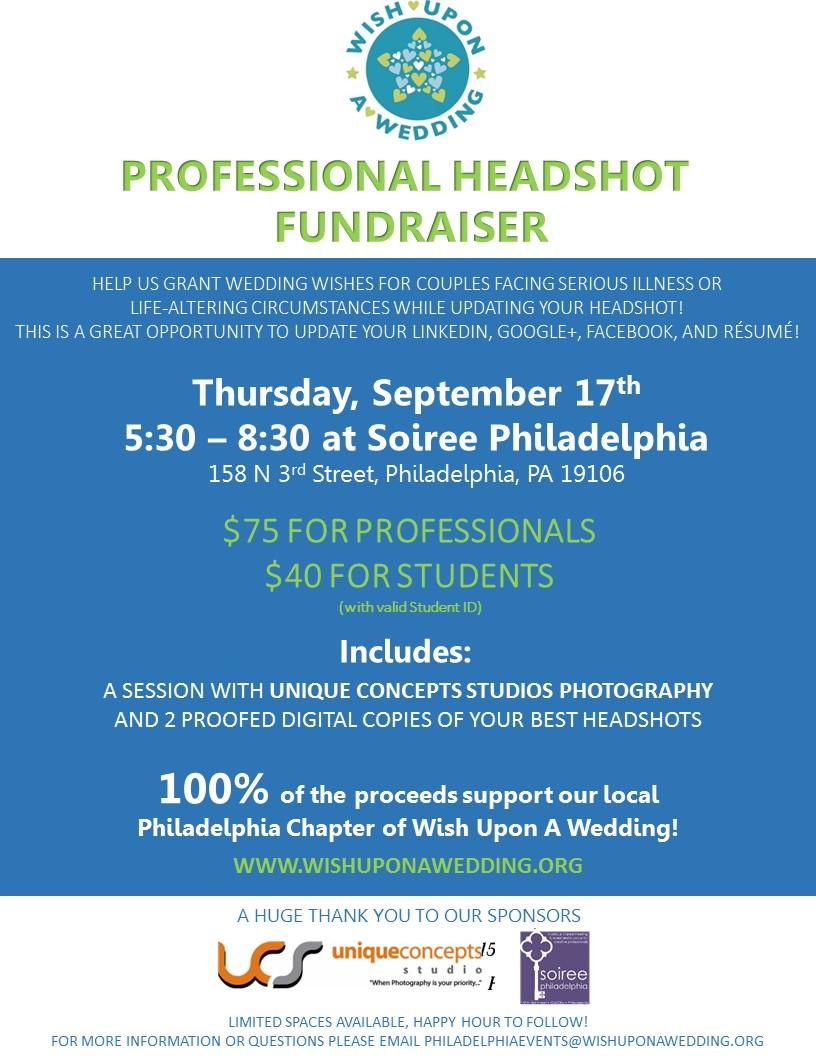 Headshot Fundraiser Flyer