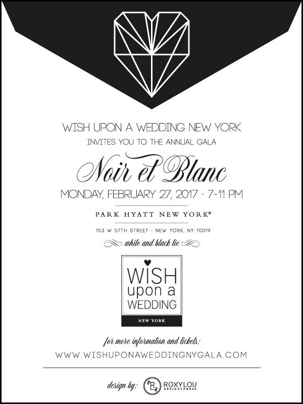 Invitation to Noir et Blanc Gala