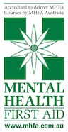 mental health first aid trainer logo