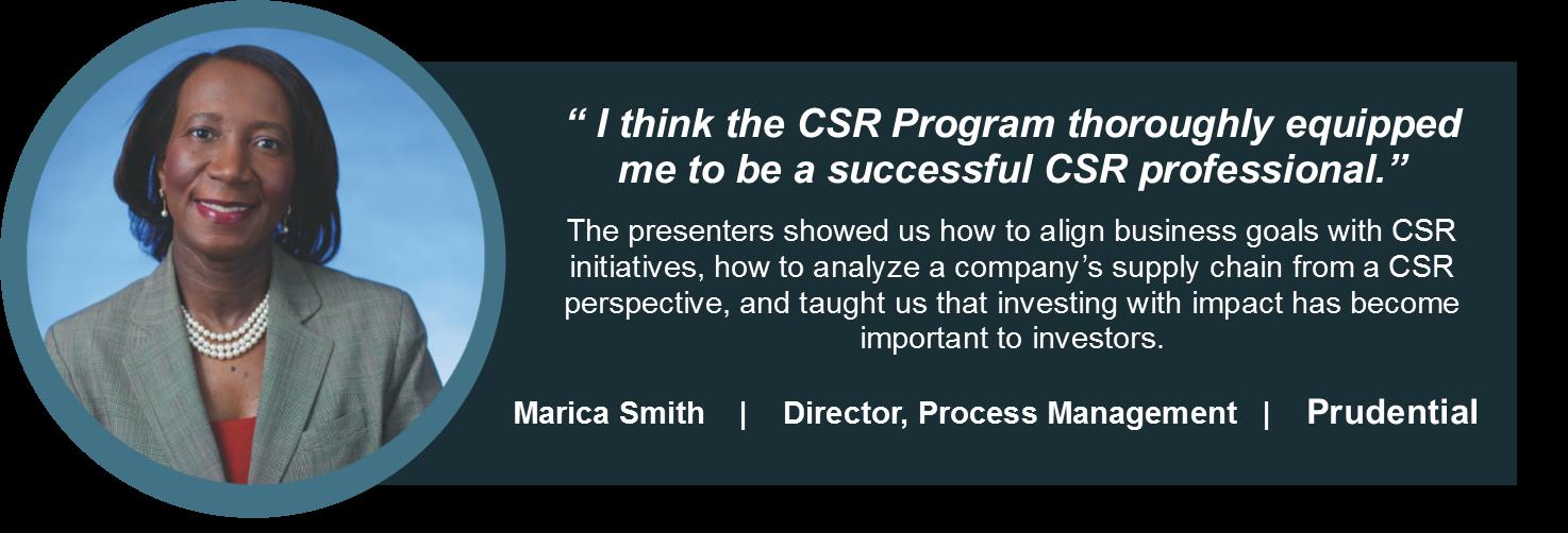 CSR testimonial