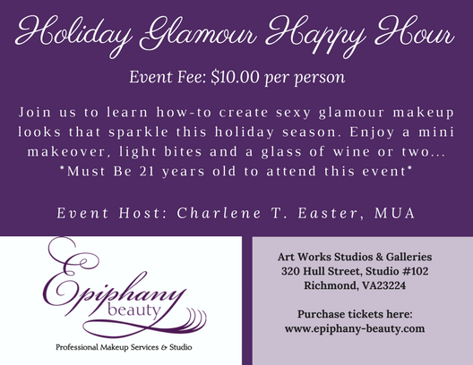 Holiday Glamour Happy Hour Logo