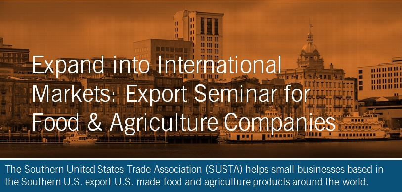 The Southern United States Trade Association (SUSTA) helps small businesses based in the Southern U.S. export U.S. made food and agriculture products around the world.