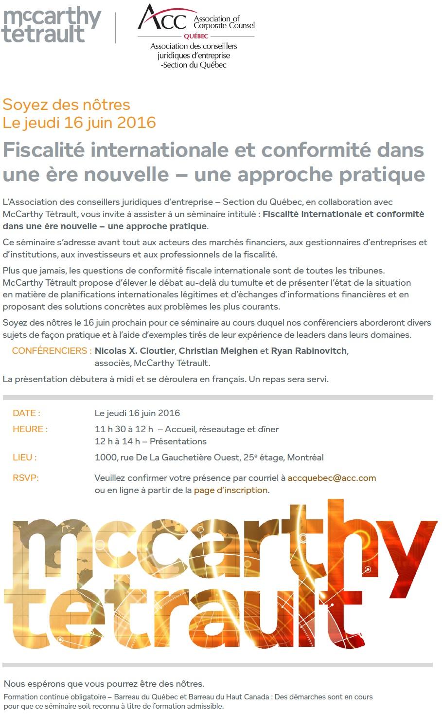 McCarthy invitation