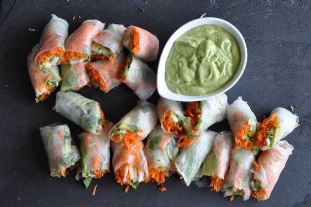 Gluten-free salad rolls