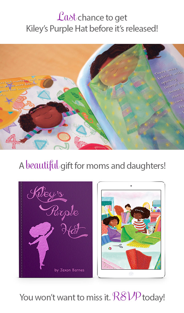Kiley's Purple Hat 2nd Book Release Party - Special gift for moms and daughters