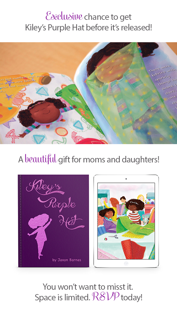 Kiley's Purple Hat Book Release Party - Special gift for moms and daughters
