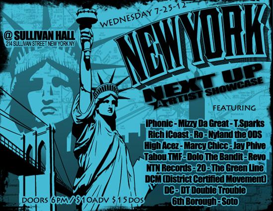 Next Up Artist Showcase @ Sullivan Hall ft TabouTMF & iPhonic