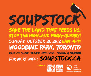 Soupstock: Save the land that feeds us October 21, 11am - 4pm