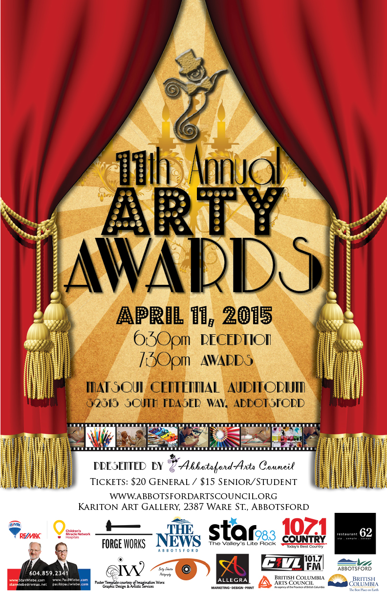 11th Annual Arty Awards Poster