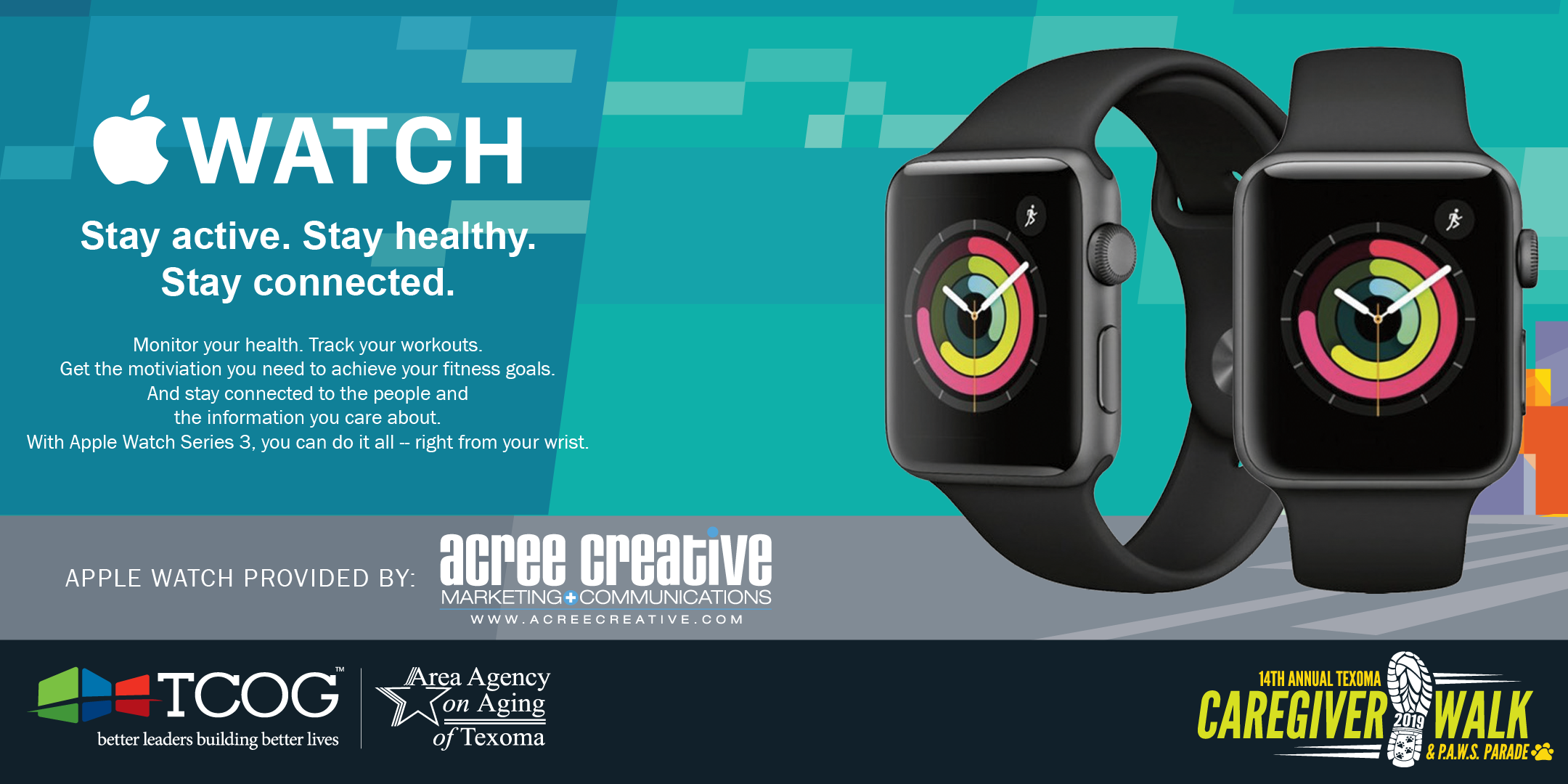 Apple Watch Series 3 generously provided by Acree Creative