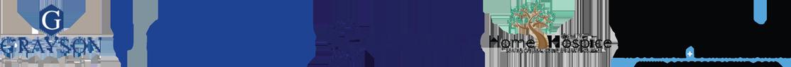 Grayson College, UnitedHealthcare, Quality Home Health Care, Inc., Home Hospice, and Acree Creative Logos