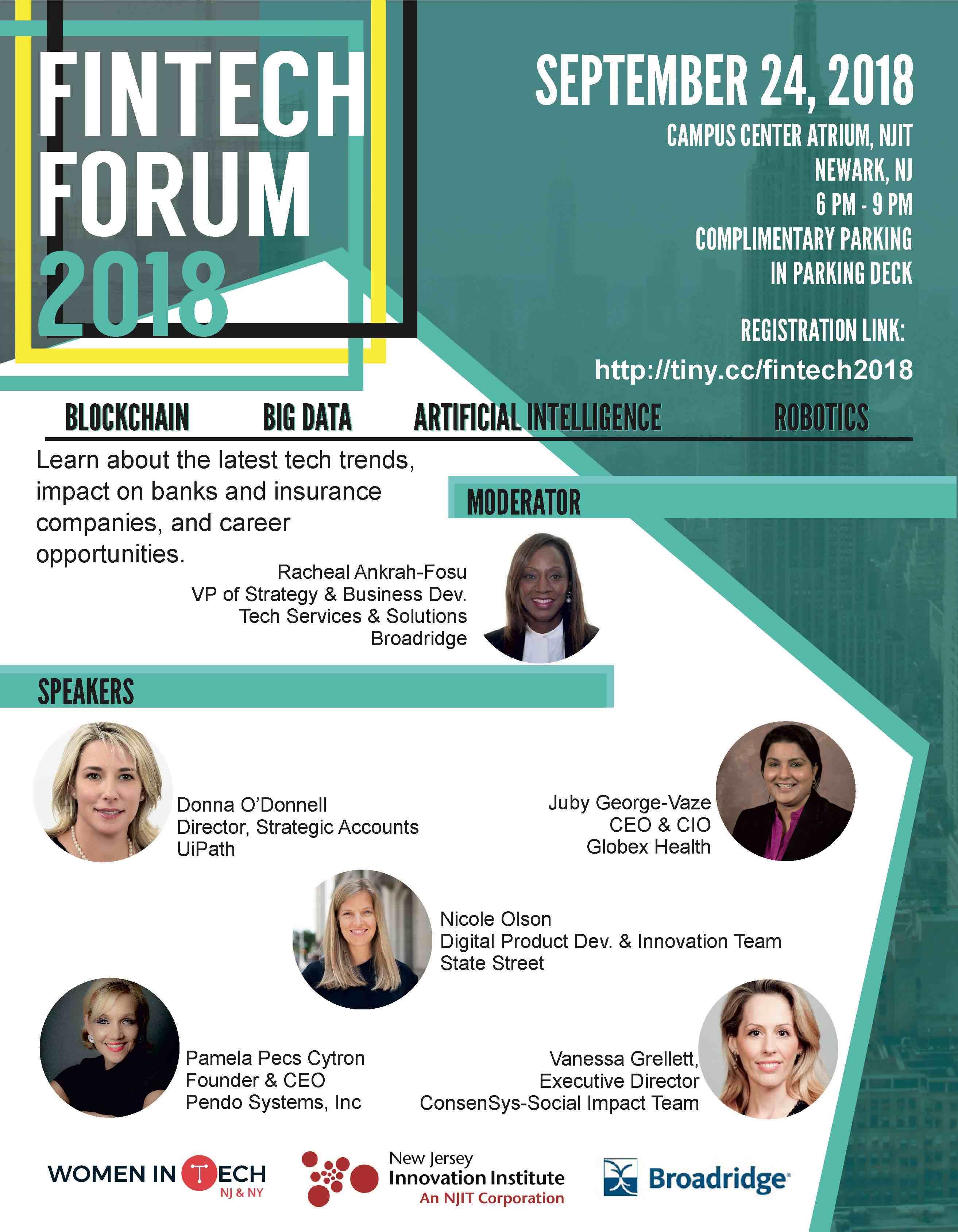 FinTech Forum Flyer 9-24-18