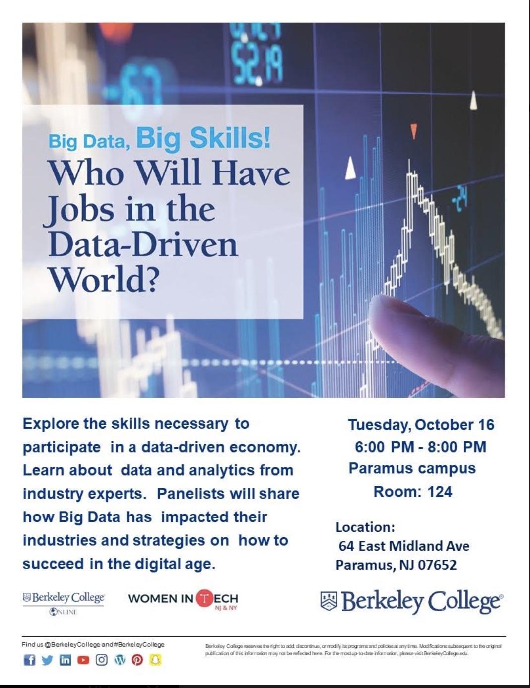 Big Data event flyer