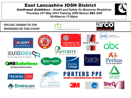HEALTH & SAFETY ROADSHOW FOR EAST LANCASHIRE BUSINESSES &...