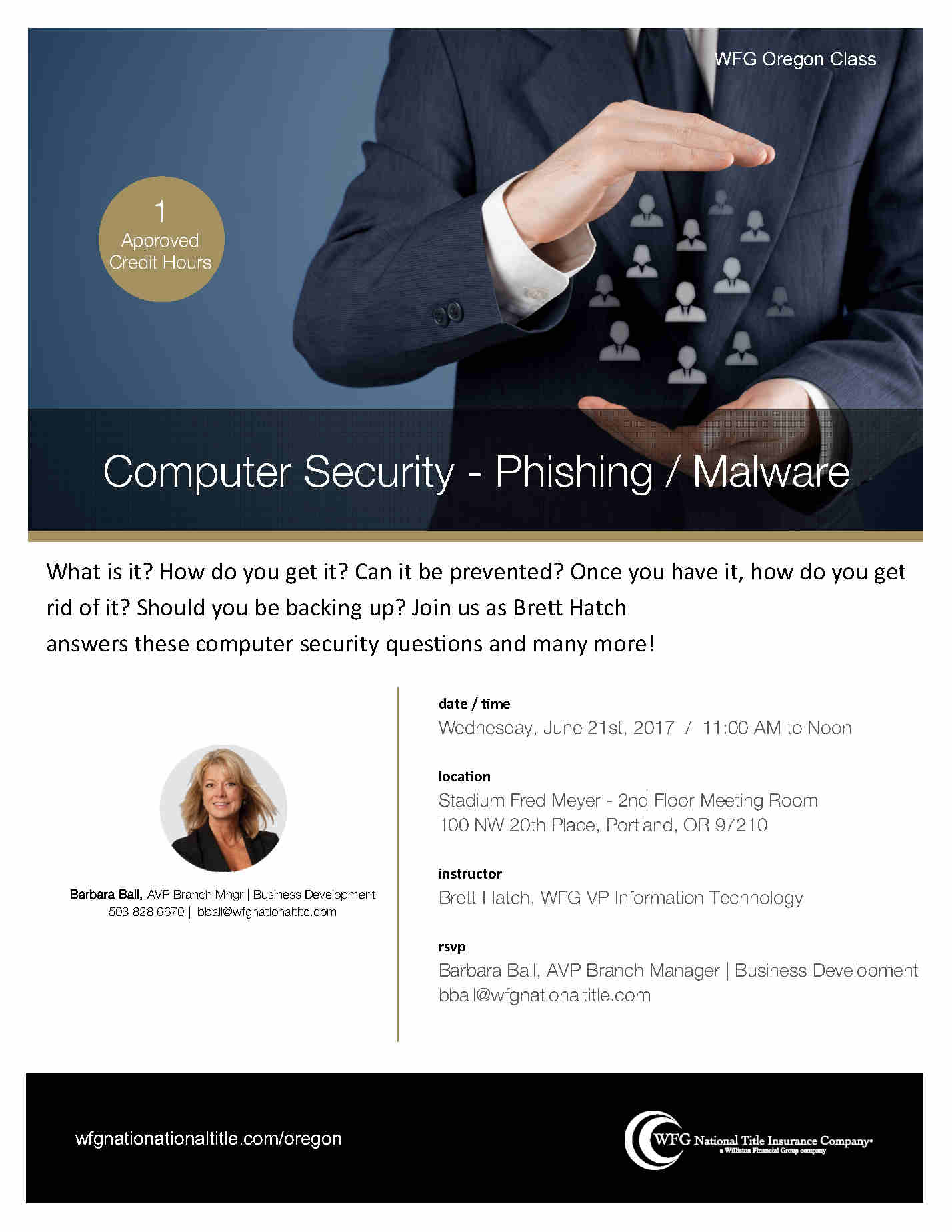Computer Security Coldwell Banker Uptown June 21st