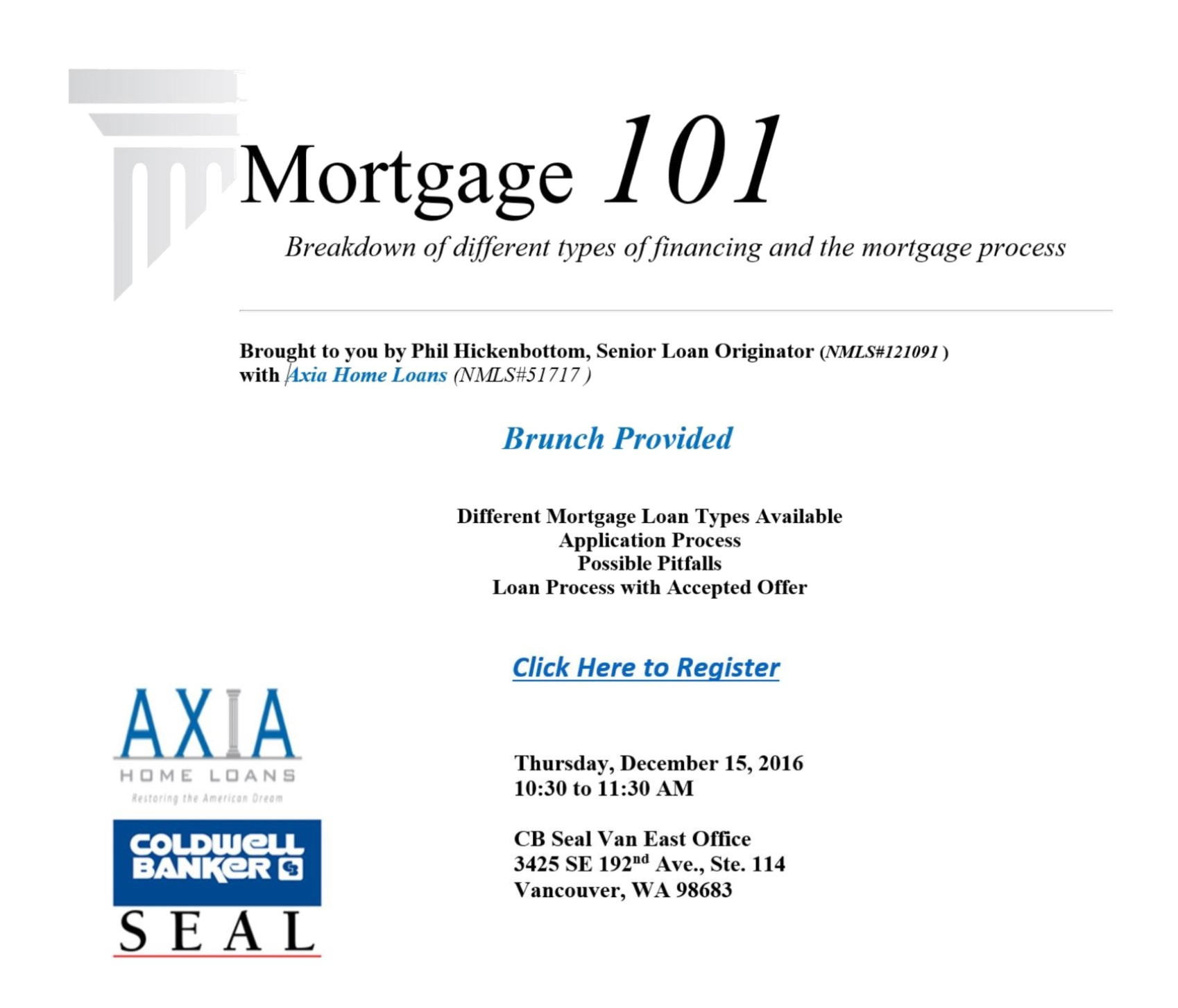 Axia home loans brunch learn mortgage 101 vancouver for Learn mortgage