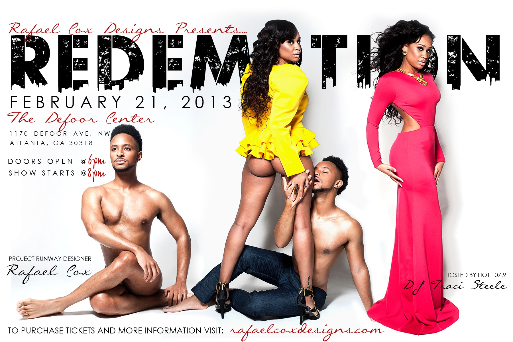 Designer Rafael Cox Redemption Fashion Show Flyer