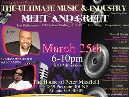 music networking event flyer for March 25