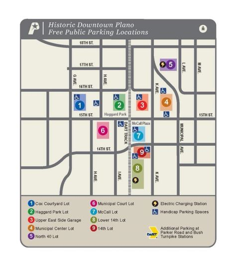 Downtown Plano Parking Map