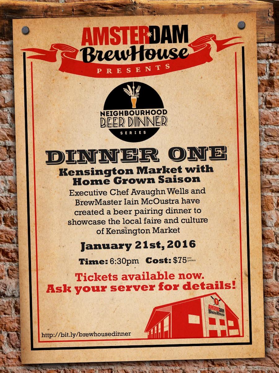 Beer Dinner Poster