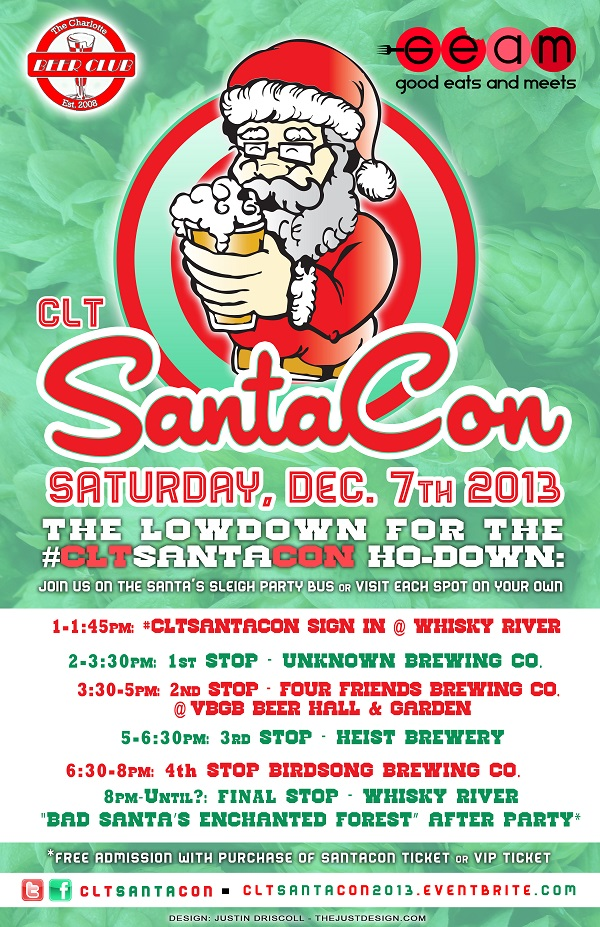 CLT Bad Santa Brewery Crawl