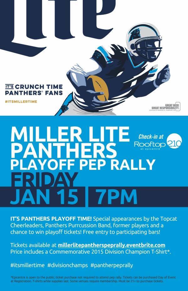 panthers playoff pep rally