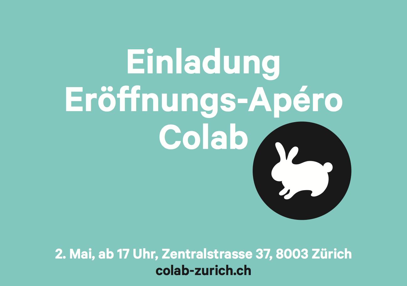 Colab Zurich Einladung zur Eröffnung