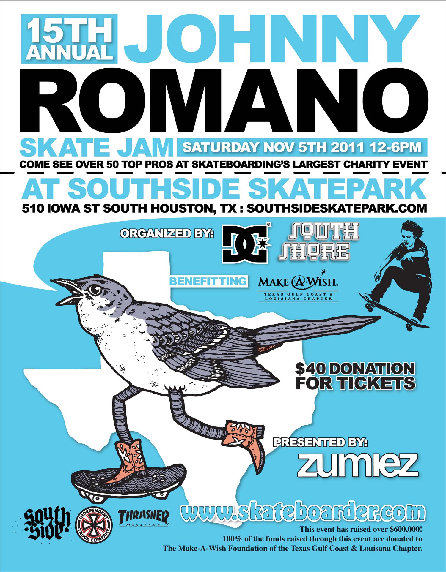 Johnny Romano Skate Jam Ad