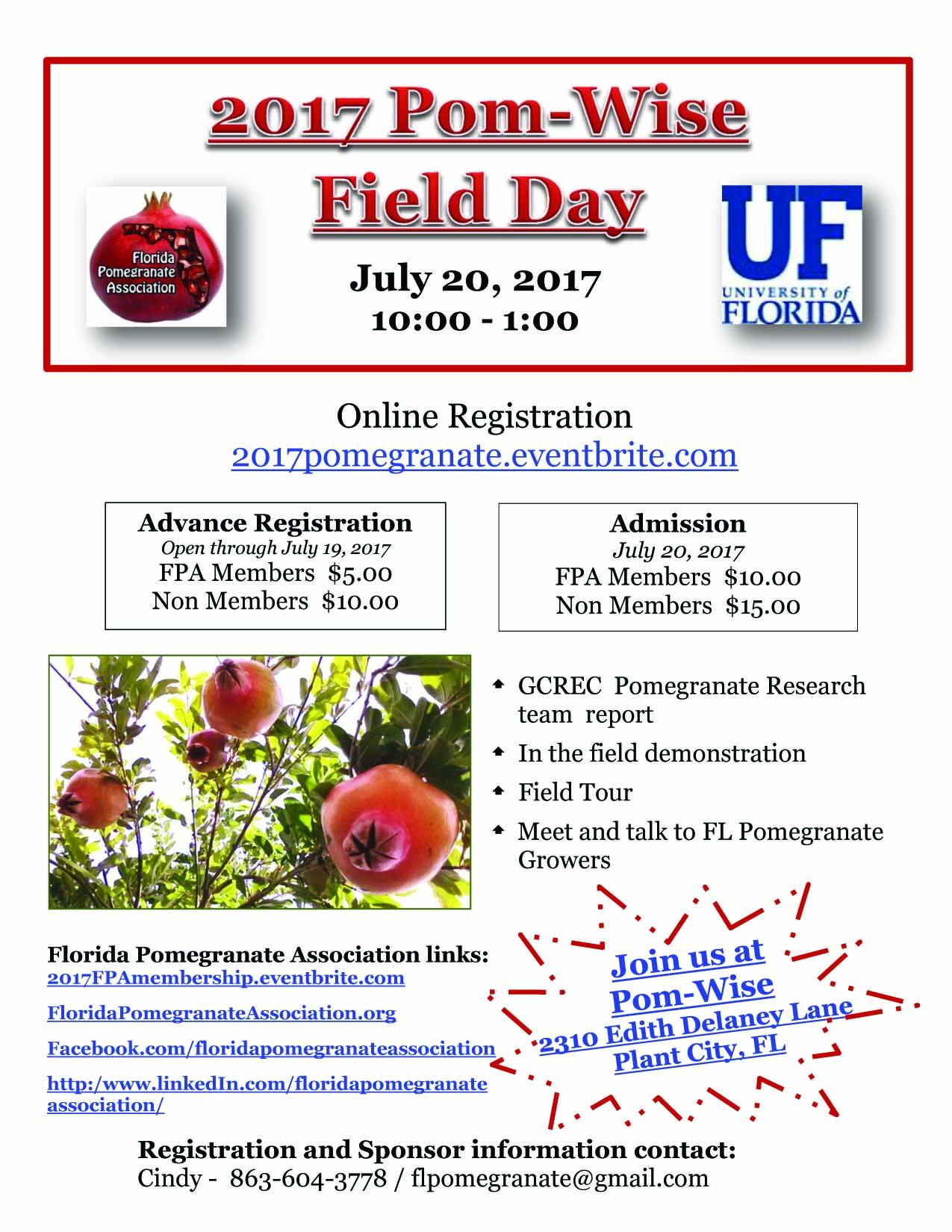 2017 Pom-Wise Field Day flyer