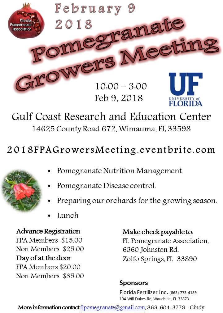 FPA Growers Meeting Feb 9, 2018  10-3:00