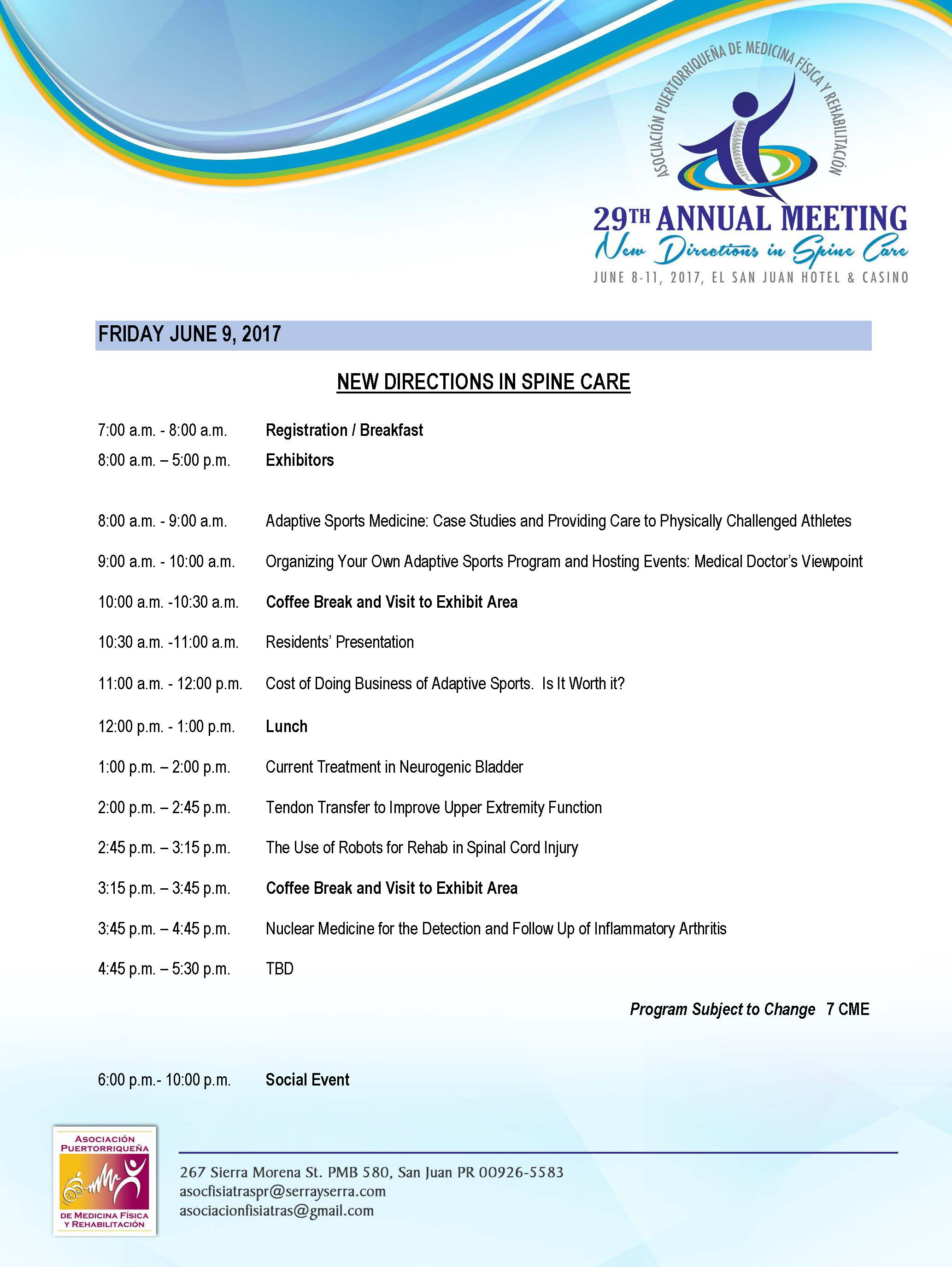 Agenda APMFR 2017