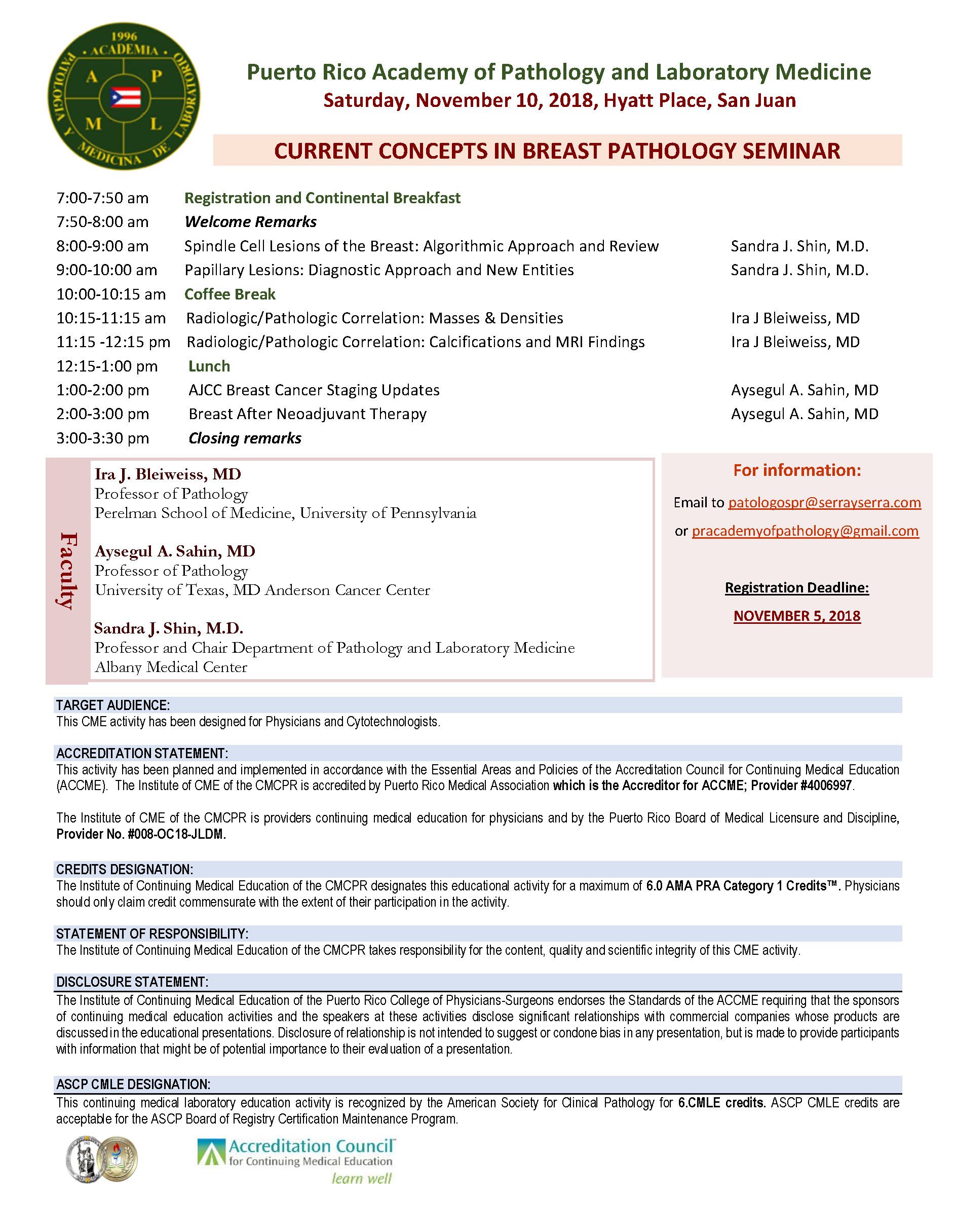 Current Concepts In Breast Pathology Seminar Tickets Sat Nov 10