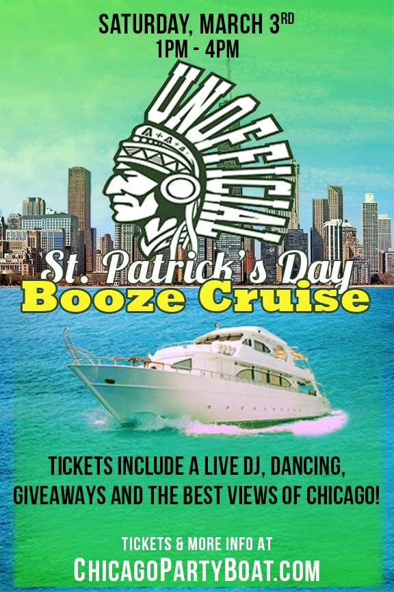 Unofficial St. Patrick's Day Booze Cruise Party - Tickets include a Live DJ, Dancing, Giveaways, and the best views of Chicago!