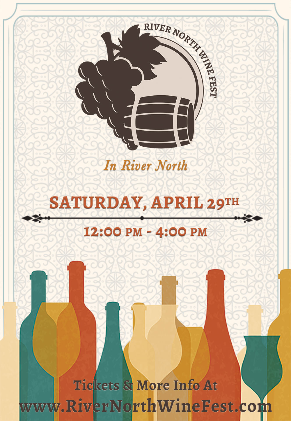 River North Chicago Wine Fest - Tickets include wine tastings and a cheese plate! We will have over 35 different wines from all over the world available for sampling!
