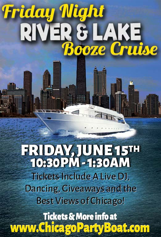 Come out on our luxury yacht for a cruise on the Chicago River! Tickets include a Live DJ, Dancing, Giveaways, and the best views of Chicago!