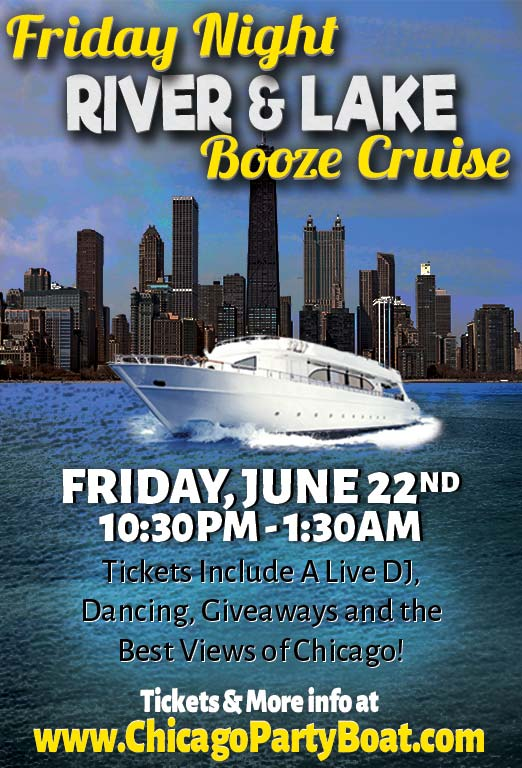 Come out on our luxury yacht for a cruise on the Chicago River and Lake Michigan! Tickets include a Live DJ, Dancing, Giveaways, and the best views of Chicago!
