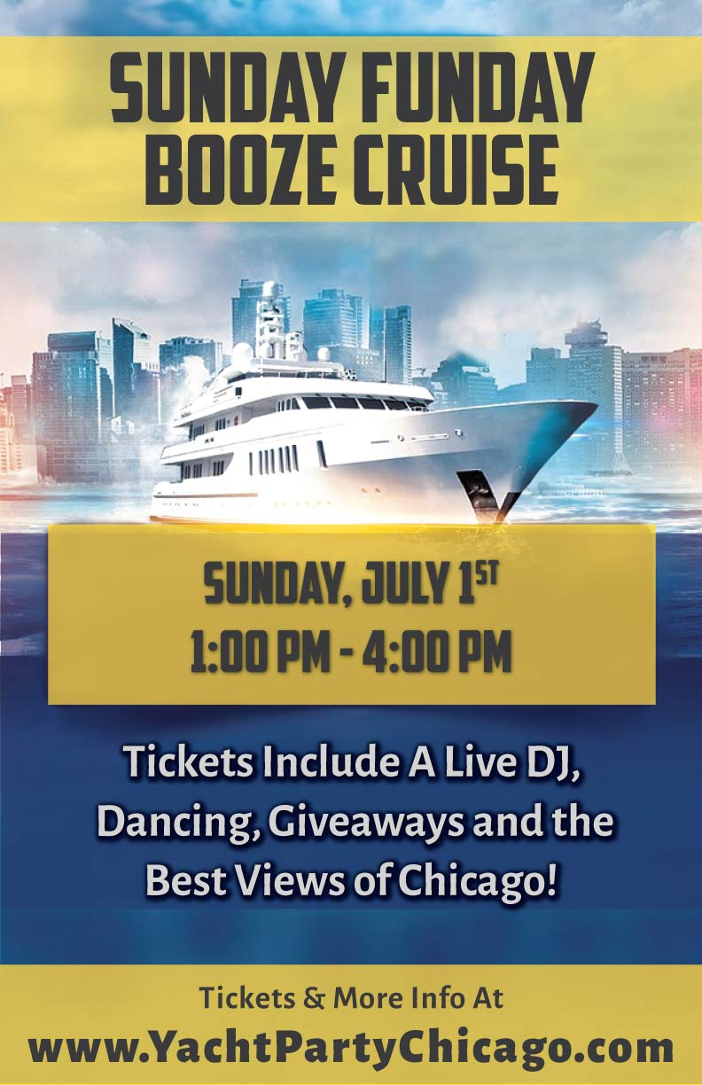 Sunday Funday Booze Cruise Party - Tickets include a Live DJ, Dancing, Giveaways, and the best views of Chicago!