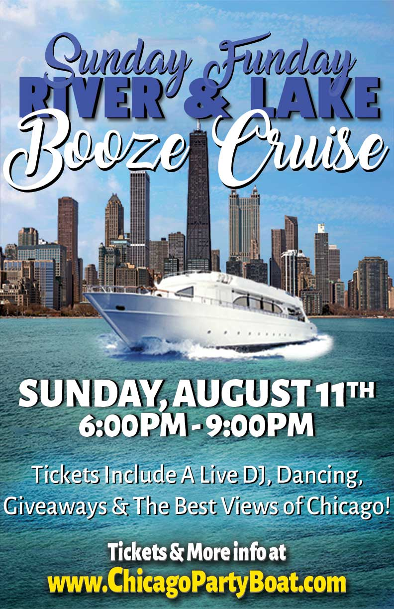 Sunday Funday River & Lake Booze Cruise Party - Tickets include a Live DJ, Dancing, Giveaways, and the Best Views of Chicago!