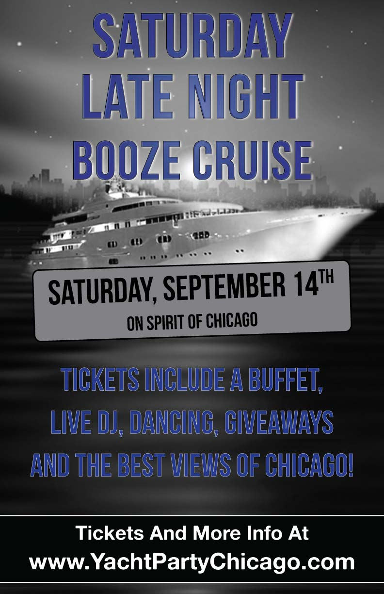 Saturday Late Night Booze Cruise Party - Tickets include a Buffet, Live DJ, Dancing, Giveaways, and the best views of Chicago!