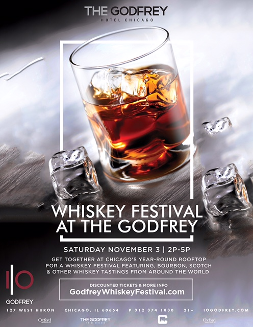 Get together at Chicago's year-round rooftop for a whiskey festival featuring bourbon, scotch & other whiskey tastings from around the world!