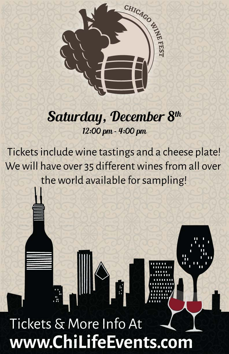 Chicago Wine Fest Party in River North - Tickets include wine tastings and a cheese plate! We will have over 35 different wines from all over the world available for sampling!
