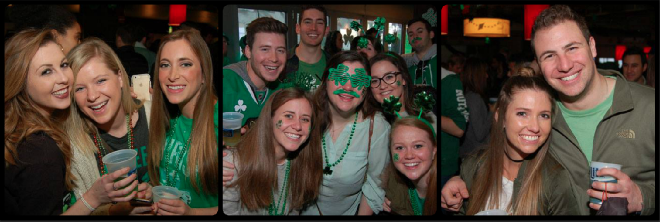 Bar Louie St. Patrick's Day Picture Collage