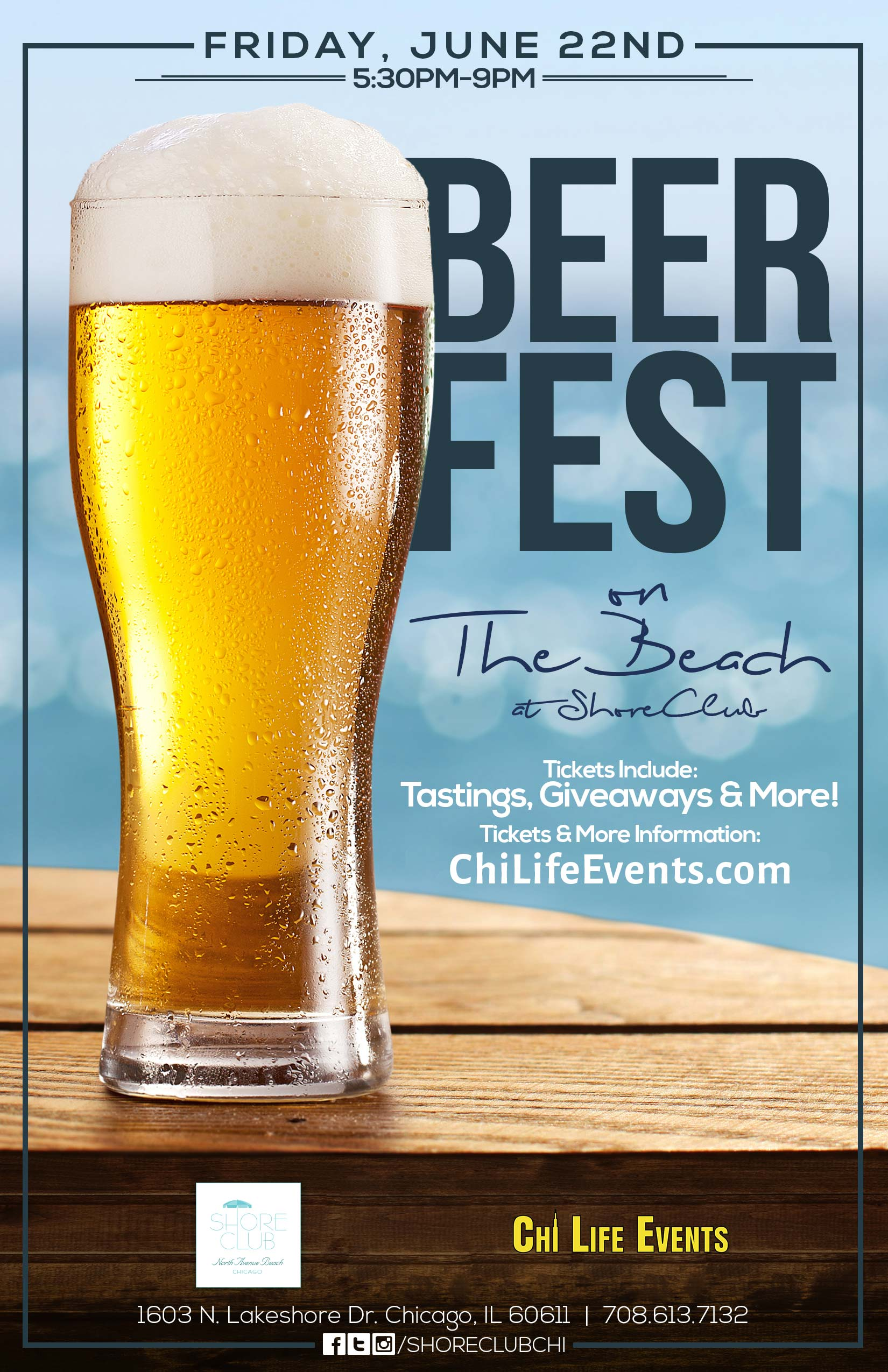 Beer Fest on the Beach - Tickets include beer tastings, giveaways & MORE! We will have a variety of different beers from available for sampling!