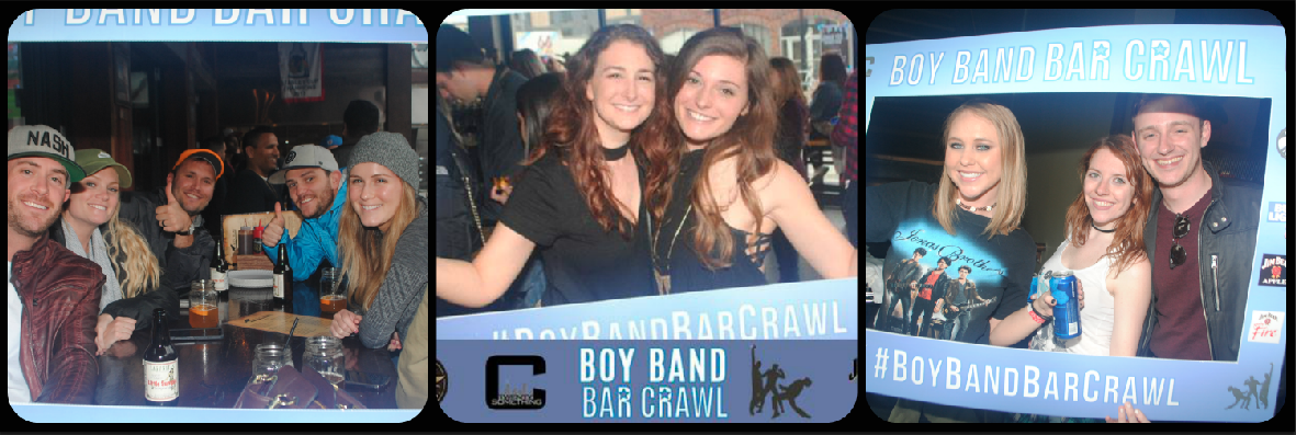 Boy Band Bar Crawl Party Picture Collage