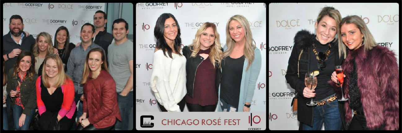 Chicago Rosé Fest Picture Collage