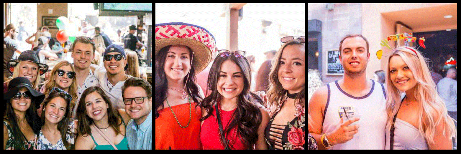 Cinco de Mayo Sunday Funday Bar Crawl Picture Collage