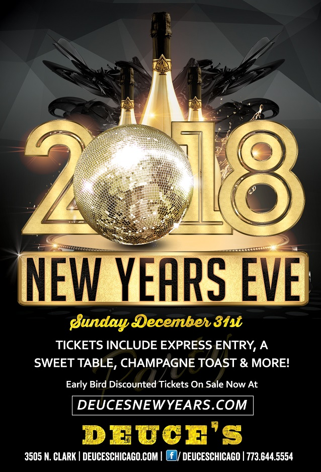 Deuce's New Year's Eve Party - Tickets include Express entry, a sweet tables, champagne toast, and more!