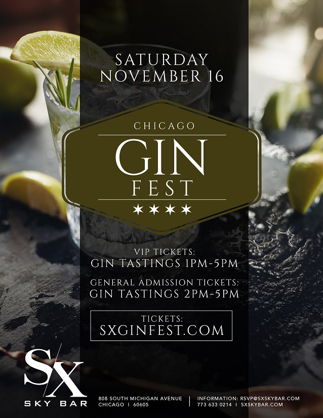 SX Gin Festival Tasting Party - Taste a variety gins from all around the world! We will have a dozens to choose from!